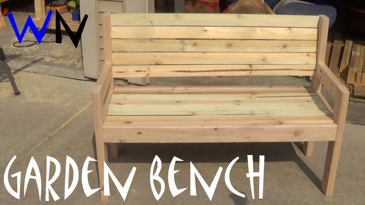 Building a Garden Bench Steves Design YouTube
