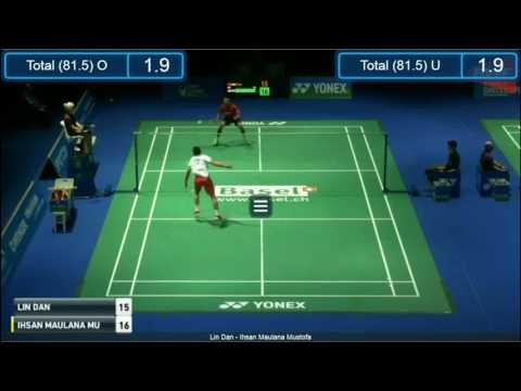 YONEX Swiss Open 2017 - LIN Dan Vs Ihsan Maulana MUSTOFA