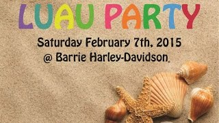 2015 Luau Party at Barrie Harley-Davidson