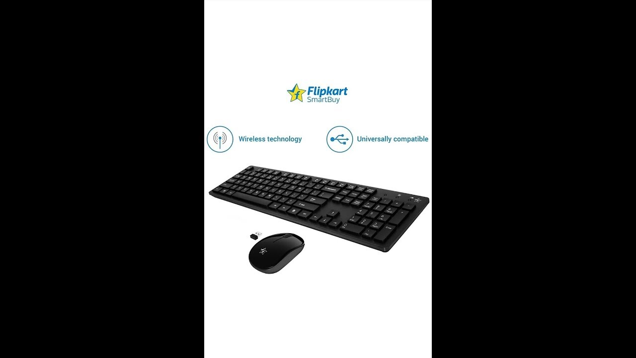 91e952f80d5 Flipkart SmartBuy Wireless Keyboard And Mouse Combo Unboxing And Review