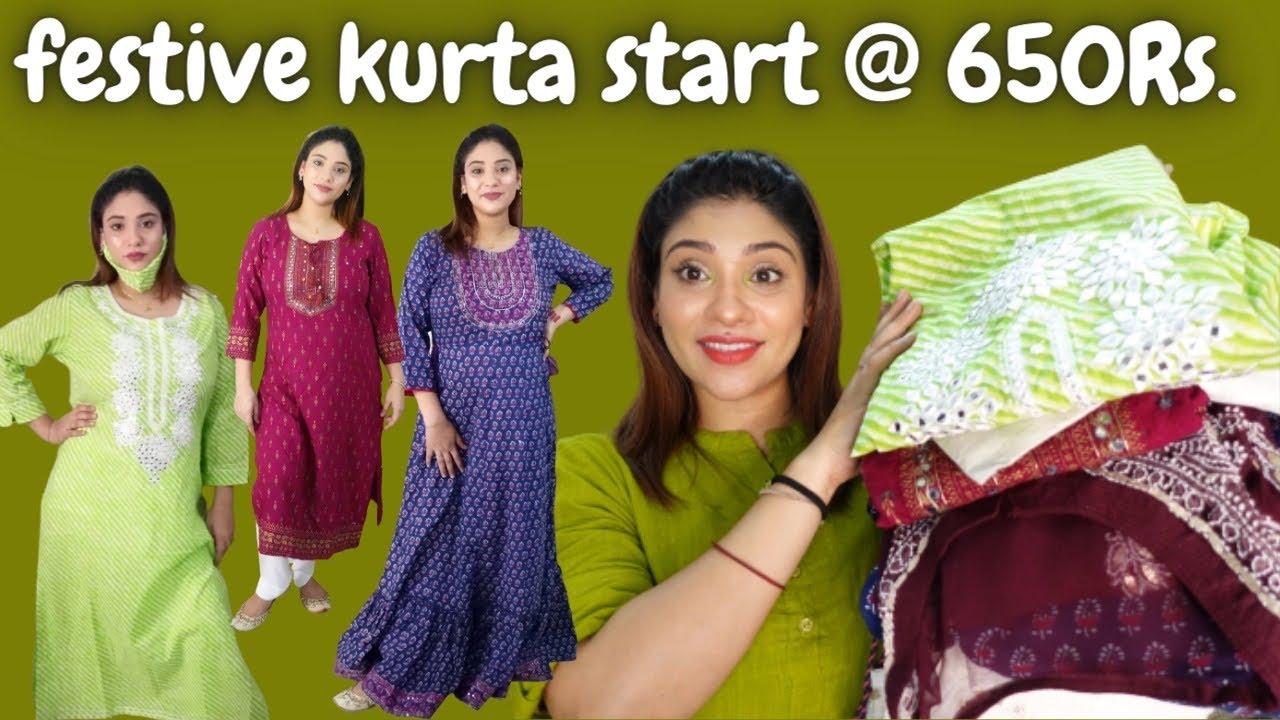 MEESHO FESTIVE HAUL || start 650 Rs.. My Eid Outfit red kurta set || shystyles