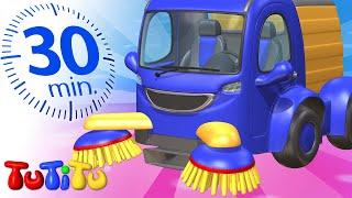 Zabawki na kółkach | Zamiatarka | 30 minut | TuTiTu po polsku