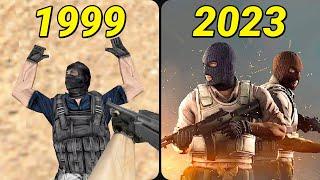 Evolution of Counter-Strike 1999-2019