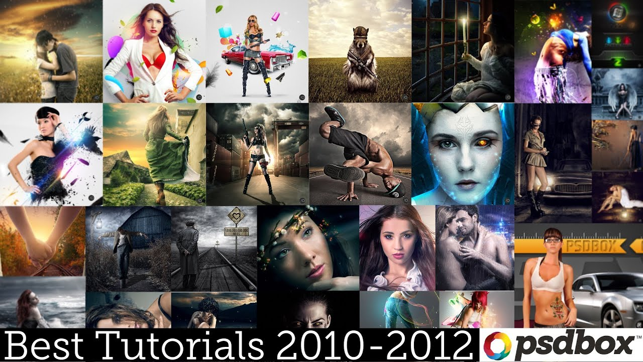 2010 2012 best photoshop tutorials recap psd box youtube baditri Gallery