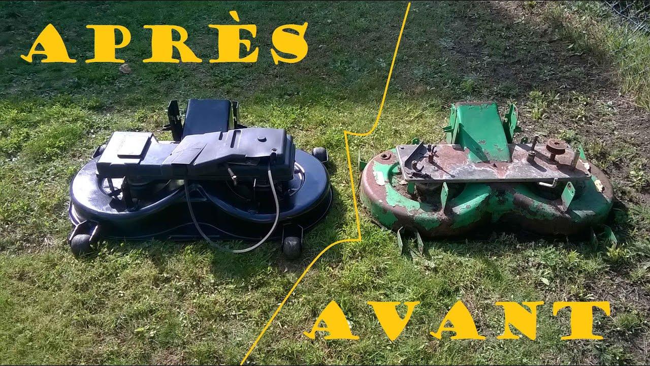 Restauration du plateau de coupe du john deere youtube - Plateau de coupe tracteur tondeuse john deere ...
