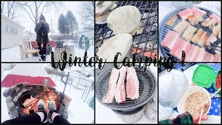 What I Eat in a day #3 | Winter Camping BBQ!!!!!