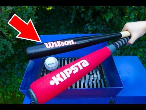 WHAT HAPPENS IF YOU DROP BASEBALL BAT INTO THE SHREDDING MACHINE?