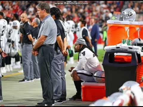 Raiders' Marshawn Lynch Sits During National Anthem Before Preseason Game