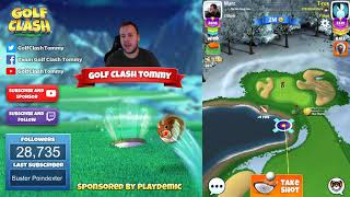Golf Clash tips, Playthrough, Hole 1-9 - MASTER - TOURNAMENT WIND! Winter Slopes Tournament!