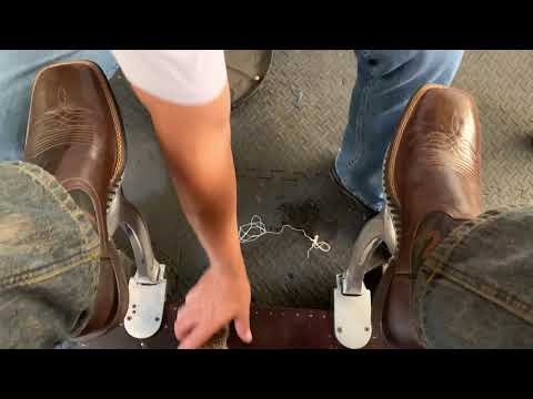 Ariat rodeo boots, ASMR clean and shine