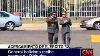 El comandante general del Ejército de Bolivia recibió la espada de Bernardo O