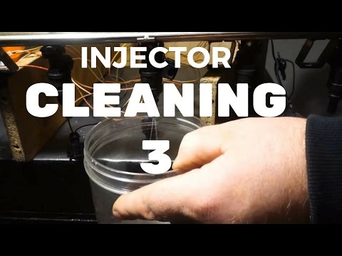 BMW e46 FUEL INJECTOR CLEANING  bad injector found
