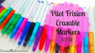 Pilot Frixion Erasable Markers Review