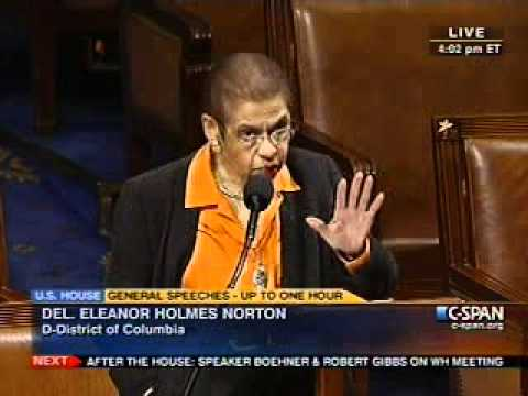 Congresswoman Norton's Special Order on Home-rule for the District of Columbia- 2-09-2011