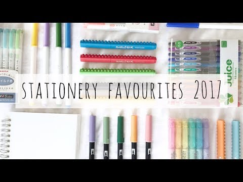 stationery favourites 2017