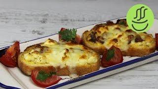 Evdeki Ekmek ve Malzemelerle Mini Pizzalar - Bayat Ekmek Pizzası - Peynirli Ekmek