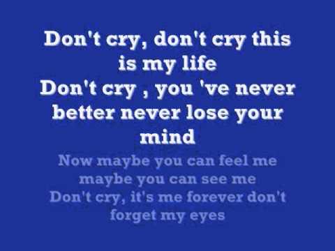Ken Lazslo  Don't Cry  Karaoke