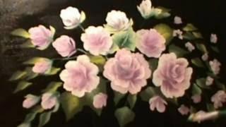 Розы акрилом  - техника двойного мазка. Roses in acrylics  - one stroke