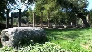 0108 The Palaestra (training area) of the ancient Olympic Games at Olympia, Greece
