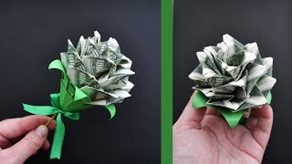 MY MONEY ROSE | Modular Origami | Dollar gift for a Valentine's day | Tutorial DIY 4K (NProkuda)