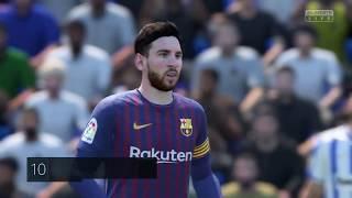 Download Video FIFA 19 Liga Santander Jornada 6 Leganés vs. Barcelona Municipal de Butarque Dificultad Leyenda MP3 3GP MP4