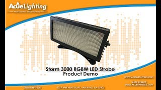 Acue Lighting Storm 3000 STROBE RGBW IP65 Product Demo Video