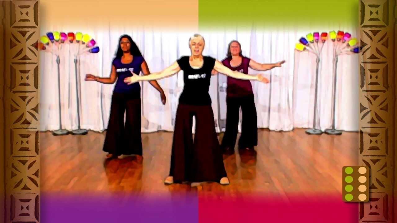 Older Adult Fitness Dancing - Easy Senior Citizens Dance -3002
