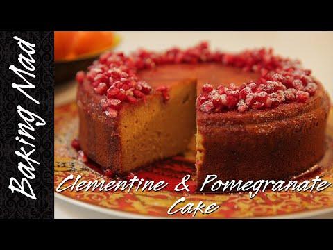 Eric Lanlard's Clementine and Pomegranate Cake