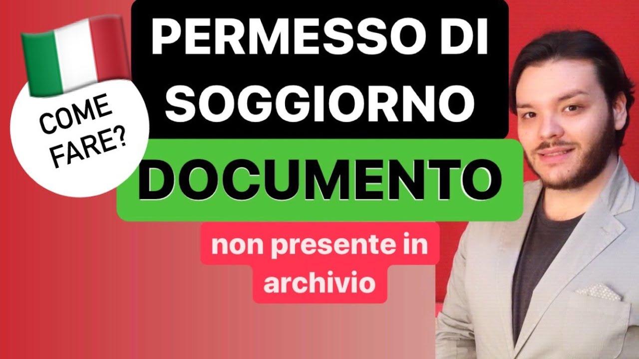 Download PERMESSO DI SOGGIORNO | COME FARE DOCUMENTO non presente in archivio