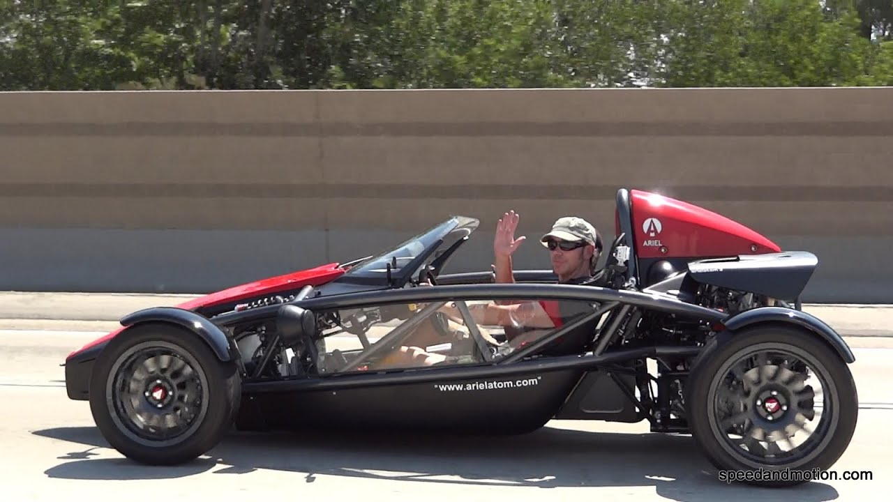 Ariel Atom 3 cruising on the freeway and canyons - YouTube