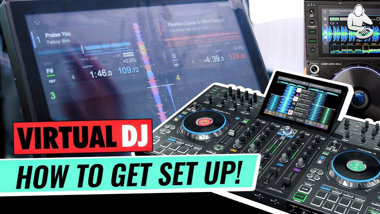 Virtual DJ with Denon DJ PRIME - Mobile DJs DREAM! | Setup Tutorial + Stems Demo with PRIME 4