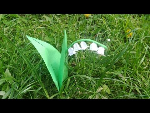Origami Une Fleur De Muguet En Papier Origami Simple Youtube