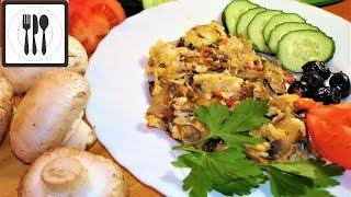 Яичница с грибами на Завтрак - Омлет с шампиньонами рецепт. Турецкий завтрак