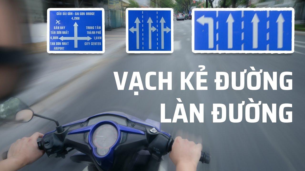Cách đi xe không bị sai làn đường và vạch kẻ đường