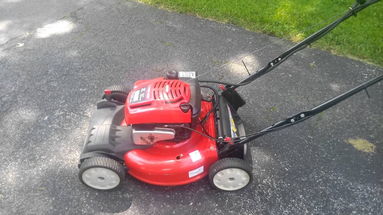 21 Quot Troy Bilt Self Propelled Electric Start Sold Youtube