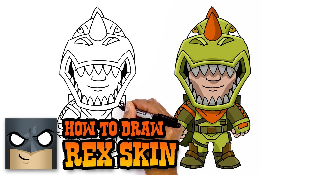 How To Draw Fortnite Rex Skin Youtube