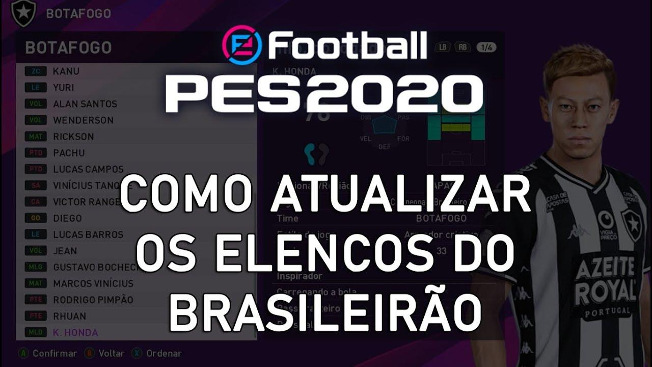 PES 2020 - Como atualizar os elencos do Brasileirão sem patch (tutorial)