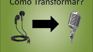 como fazer um microfone com fone de ouvido quebrado