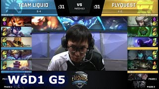 Team Liquid vs FlyQuest | Week 6 Day 1 of S8 NA LCS Spring 2018 | TL vs FLY W6D1 G5