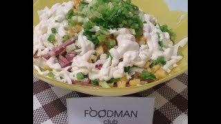 Салат из пекинской капусты с копчёной колбасой: рецепт от Foodman.club
