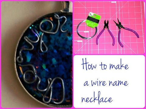 diy how to make a wire name necklace pendant tutorial