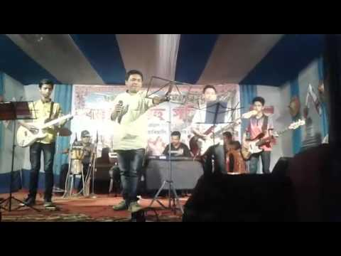 My son & his friends playing guiter with singer Anjan saikia