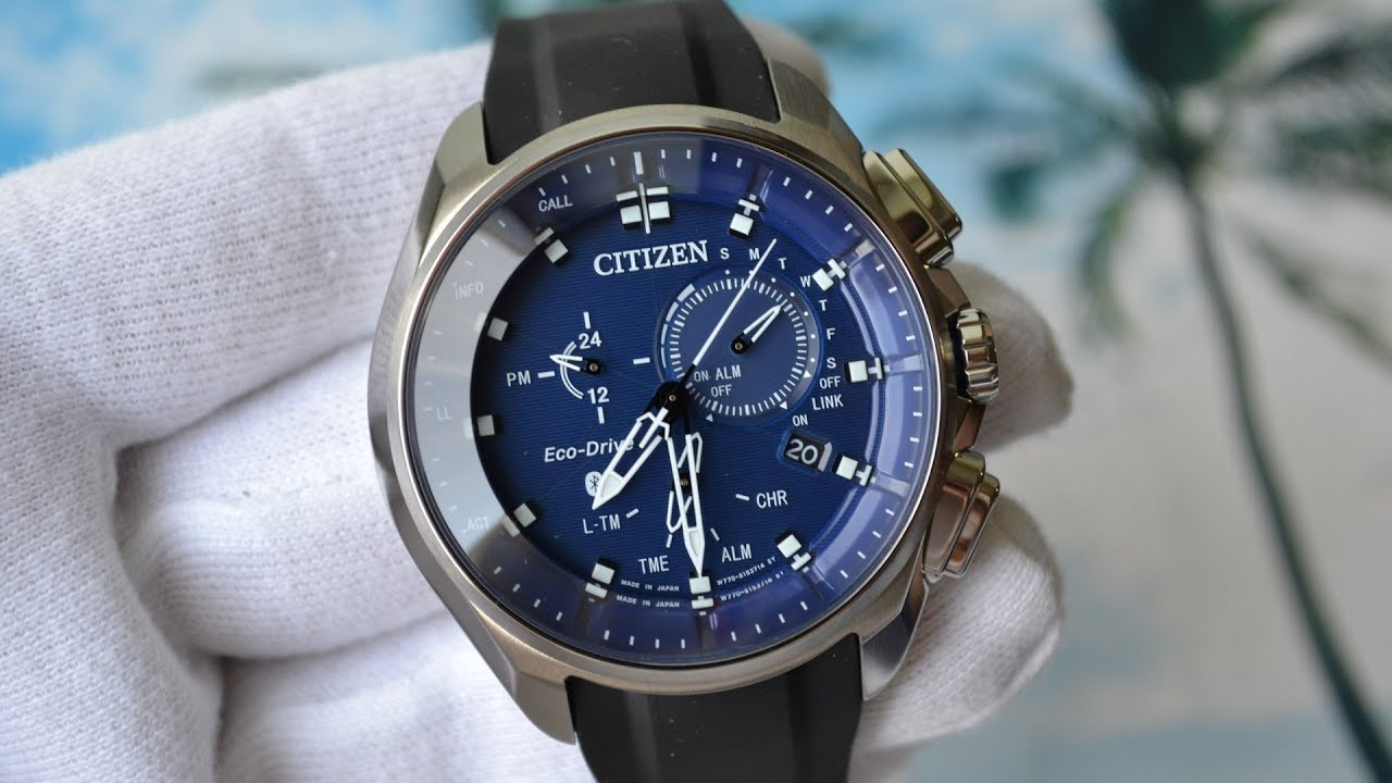 Обзор Citizen Bluetooth BZ1020-22L W770 Smart Watch - YouTube 9b4827696f