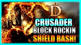 Diablo 3 Crusader Block Rockin Shield Bash! - Torment 10 Rift Farming Build - Patch 2.3 Gameplay