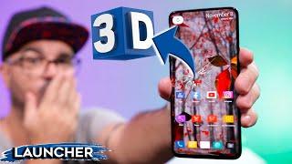 LAUNCHER 3D mais INCRIVEL para seu ANDROID  |  MELHOR LAUNCHER 3D em PERSONALIZAÇÃO 2020 screenshot 1