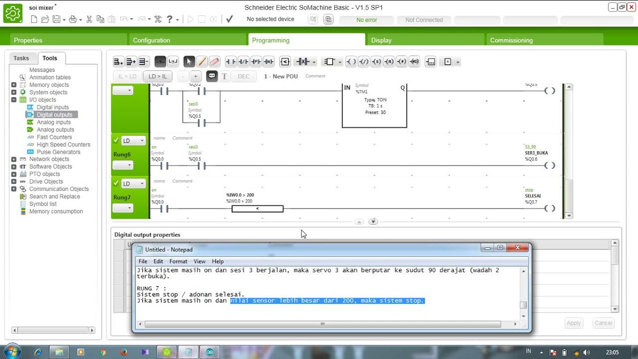 Ladder diagram otomatisasi mixer dengan logika plc youtube ladder diagram otomatisasi mixer dengan logika plc ccuart Choice Image