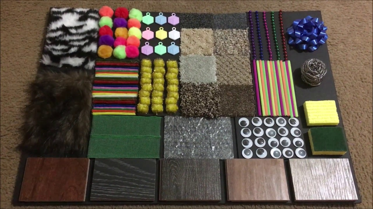 DIY Sensory Board for babies and