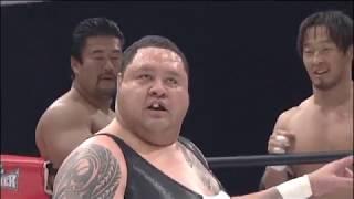 永田裕志 (NJPW) & 佐々木健介 (D-RING) & 丸藤正道 (NOAH) & 曙 (FREE)...