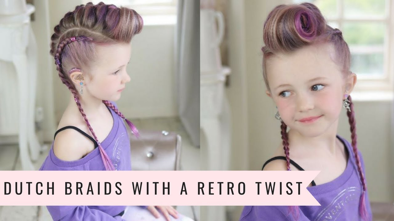 Dutch Braids With A Retro Twist By Sweethearts Hair Youtube
