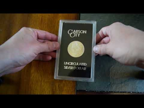 Uncirculated 1884 Carson City Morgan Silver Dollar careful unboxing and care tips 04/01/18